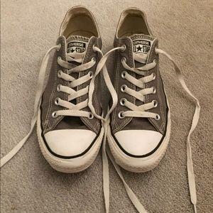 Grey low top Converse sneakers